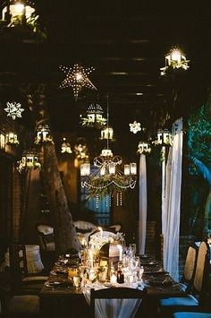 Moroccan lanterns and greenery