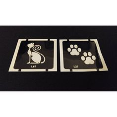 2pc Kitty Kat / Cat Paws GLITTER TATTOO STENCIL SET For Henna Airbrush Facepaint *** See this great product. (This is an affiliate link) #HennaBodyPaint