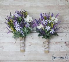 Wildflower Bridesmaid Bouquet  Lavender by blueorchidcreations