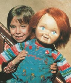 Chucky and Lil Andy Horror Movie Characters, Horror Movie Posters, Horror Movies, Kitsch, Good Guy Doll, Child's Play Movie, Childs Play Chucky, Grunge, Retro