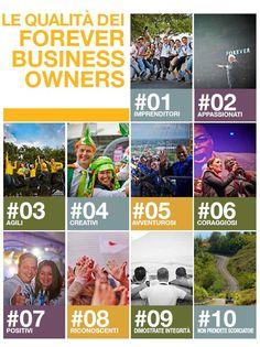 Le qualità dei nostri FBO, Incaricati di Vendita Forever Fanno la differenza in tutto il mondo!