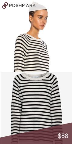 Classic Equipment Striped Sweater with Side Zip! SOLD OUT on Intermix.com! This is a classic piece for work or the office. Never worn.                  What do you get when you mix classic stripes with an edgy zipper? A very chic statement Sweater. Crew neckline. Equipment Sweaters Crew & Scoop Necks