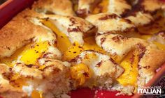Simple peach cobbler dump cake.    http://theslowroasteditalian- printablerecipe.blogspot.com