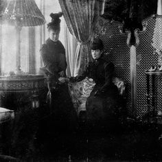 """imperial-russia: """"""""Dowager Empress Maria Fyodorovna with her daughter Grand Duchess Xenia Alexandrovna """" """" Princess Alice Of Battenberg, Prince Christian Of Denmark, Siberian Forest, Princess Louise, Grand Duchess Olga, Alexandra Feodorovna, Tsar Nicholas Ii, Military Officer, Grand Duke"""