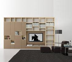 Pari & Dispari Swing door arrangements by Presotto   AV cabinets