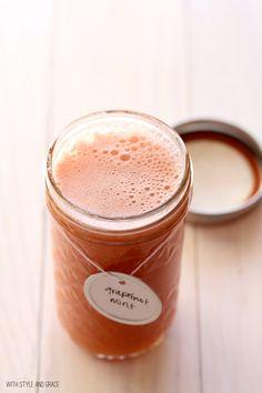[ Recipe: Fresh Grapefruit + Mint Juice ] Made with: grapefruits, and fresh mint. ~ from With Style and Grace Blog