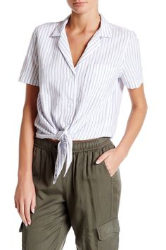 Keira Tie Front Shirt by Equipment on @nordstrom_rack