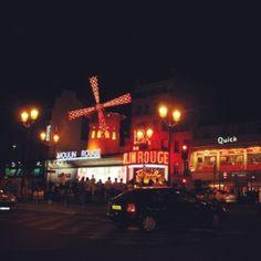 Cabaret at Moulin Rouge, Paris
