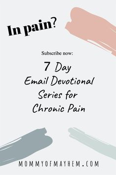 MHave you ever wondered what the Bible has to say about pain? Is there something from the Word of God that can speak to you in your chronic pain situation? Join me for this weeklong devotional series via email - where I'll send you short devotionals each day for 7 days to help you connect with God in the midst of your pain. Science Experiments For Preschoolers, Preschool Science, All About Mom, What Is Life About, Prayer For You, Daily Prayer, Bible Verses For Hard Times, Connecting With God, Tired Mom