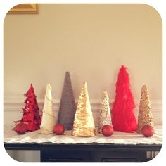 Easy homemade Christmas trees.  Full tutorial with lots of good ideas!