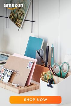 Clutter Organization, Home Organization Hacks, Organizing, Office Decor, Home Office, Cute School Supplies, Gifts For Coworkers, New Room, Room Decor