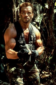 In light of the new Predator movie heres some classic Arnold 1987 Arnold Movies, Man In Black, Wanted Movie, Predator Movie, Image Film, Films Cinema, Hero Movie, Hollywood, Tough Guy