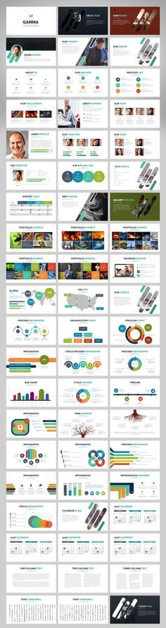 Gamma | Powerpoint Template by Zacomic Studios on @creativemarket