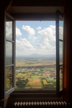 Window over Tuscany Tuscan summer. I remember that amazing feeling of looking out of a Tuscan villa window! Looking Out The Window, Through The Looking Glass, Window View, Open Window, Castle Window, Office Pictures, Through The Window, Windows, Nice View