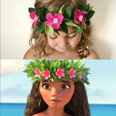 Items similar to Felt Flower Moana Crown // Moana Crown // Moana Costume // Moana accessory on Etsy Hawai Party, Aloha Party, Luau Party, Kids Luau Parties, Hawaiian Birthday, Luau Birthday, 3rd Birthday Parties, Birthday Ideas, Moana Birthday Party Theme