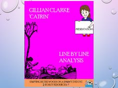 A detailed consideration of the poem, Catrin, by Gillian Clarke. This is aimed at those studying CIE English Literature IGCSE