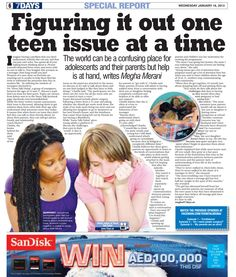 The world can be a confusing place for #teens and their parents but help is at hand in the #UAE  http://www.7daysindubai.com/VIDEO-Counsellor-offering-helping-hand-Dubai-s/story-17863185-detail/story.html