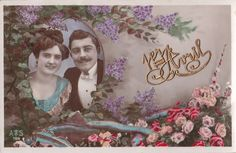 Carte Postale Photo..c1911 April Fools Day Hand Colored RPPC.