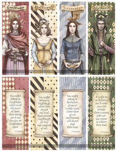 Hogwarts+Founders+Double-Sided+Bookmarks+by+Achen089.deviantart.com+on+@deviantART