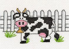 Country Cow cross stitch pattern.