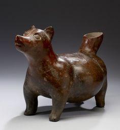 Dog Effigy Vessel - Colima (Artist) PERIOD 100 BC-AD 300 MEDIUM burnished earthenware (Ceramics)  H: 9 13/16 x L: 14 5/16 x W: 8 5/8 in. (25 x 36.3 x 21.9 cm) Mexico, Colima (Place of Origin)
