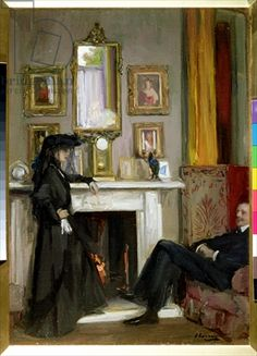 """The Grey Drawing Room, Tangiers by Sir John Lavery"""
