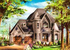 Plan Stylish European Home Plan – 2019 - Architecture Decor Castle Floor Plan, Castle House Plans, Beach House Plans, Cottage House Plans, Craftsman House Plans, Small House Plans, Cottage Homes, House Floor Plans, Modern Castle House