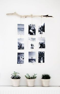Make a photo wall yourself: ideas for a creative wall design Fotowand selber machen: Ideen für eine kreative Wandgestaltung Make a photo wall yourself: ideas for a creative wall design Cheap Home Decor, Diy Home Decor, Home Decoration, Creative Walls, Creative Design, Home And Deco, Photo Displays, Display Photos, Diy Wall