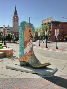 Cowboy boot in Cheyenne.