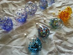 Glassblowing workshop to make ornaments/sun catchers. I documented my visit at TheMakerMom.com.