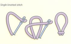 single knotted stitch