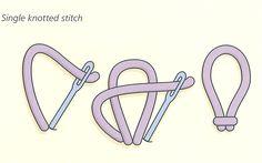 single knotted stitch