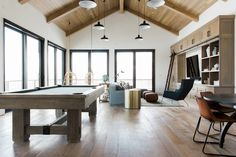 Wood tongue and groove ceiling || Studio McGee