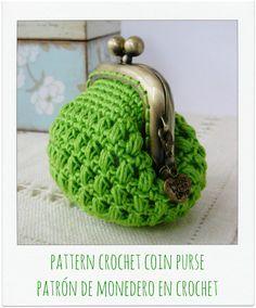 PATTERN Crochet Coin Purse {Model nº 15}