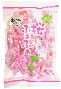 Sakura Fuwa-Fuwa (Soft Mochi Candy) $4.50 http://thingsfromjapan.net/sakura-fuwa-fuwa-soft-mochi-candy/ #sakura candy #Japanese candy #Japanese snack