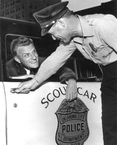 Billy Graham and his policeman-driver Karl Miller. Evangelist Billy Graham in Oklahoma City. Staff photo by Dawes Fisher taken Billy Graham Family, Billy Graham Quotes, Evangelist Billy Graham, Franklin Graham, Godly Man, Bruce Springsteen, Oklahoma City, Word Of God, Fisher