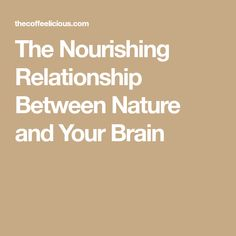 The Nourishing Relationship Between Nature and Your Brain