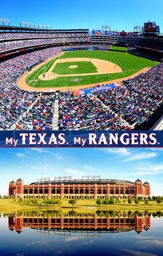 Even though I went to the Cowboys game on Christmas Eve, When I saw the Rangers field all I wanted was baseball season to be here!!