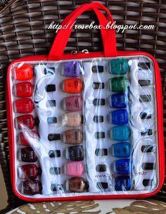 maleta para guardar esmaltes blant colors