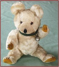 Very Sweet Old Straw Filled White Teddy Bear