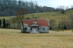 Old one room school house in Sevierville, Tennessee.  Built in 1917 and used until 1949.