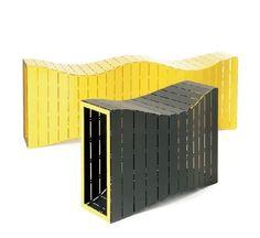 Suolelis MUTABOR, dizaineris Nauris Kalinauskas (Contraforma). Contemporary modular bench MUTABOR M by Nauris Kalinauskas Contraforma