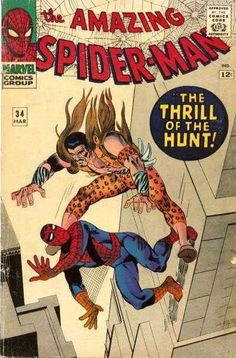 The Amazing Spider-Man #34 - March 1966 cover by Steve Ditko