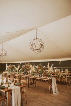 Green & Gold Wedding Ideas with Pampas Grass Bouquet & Bridal Cape Green Gold Weddings, Green Wedding, Unique Weddings, Bohemian Weddings, Long Tables, Bridal Cape, Wedding Inspiration, Wedding Ideas, Marquee Wedding