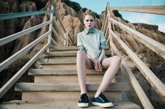 blue, short pants, sneaker, blue, knit, fashion ,style, girl,