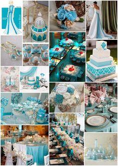 images of scuba blue lucite green and classic blue wedding | Scuba Blue (Azul submarino)
