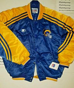 Vintage LOS ANGELES RAMS Starter Jacket Pro Line Bomber Size XL Satin Nylon NFL #Starter #LosAngelesRams
