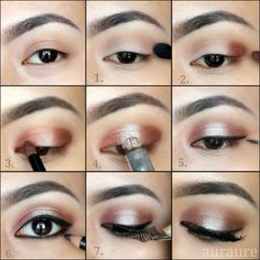 makeup for brown eyes step by step - Google Search