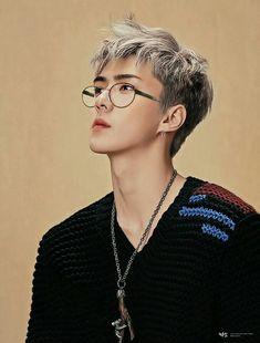 Idk if this is fanart or Sehun is just THAT beautiful Chanbaek, Exo Ot12, 17 Kpop, Kpop Exo, Oppa Gangnam Style, Chanyeol Baekhyun, Park Chanyeol, Xiuchen, Kim Minseok