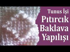 Tunus İşi Bebek Battaniyesi Yapılışı Baklava Örneği , Canım Anne - YouTube